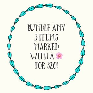 🌸Bundle any 3 items marked with a 🌸 for 20!!